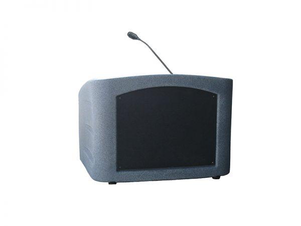 Accent Integrator Table Top Podium Lectern, Gray Granite - Dan James Original