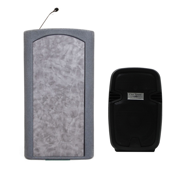 Accent Classic Freedom UHF Podium Lectern, Gray Granite - Dan James Original