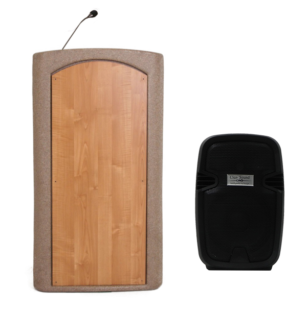 Accent Classic Freedom UHF Lecterns and Podiums, Beige Granite - Dan James Original