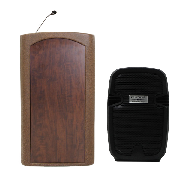 Accent Classic Freedom UHF Podium Lectern, Bronze Granite - Dan James Original