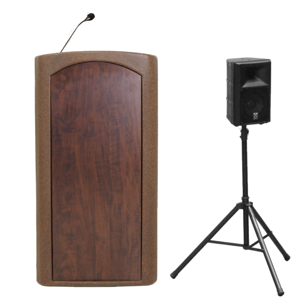 Presenter Lecterns and Podiums with External Speaker