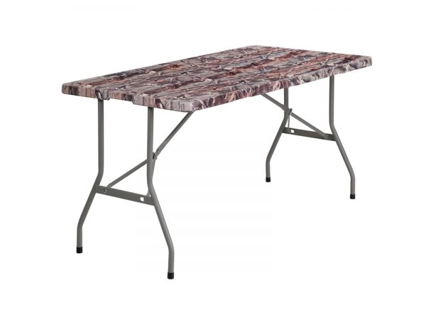 5' Bi-Fold Camouflage Plastic Folding Table
