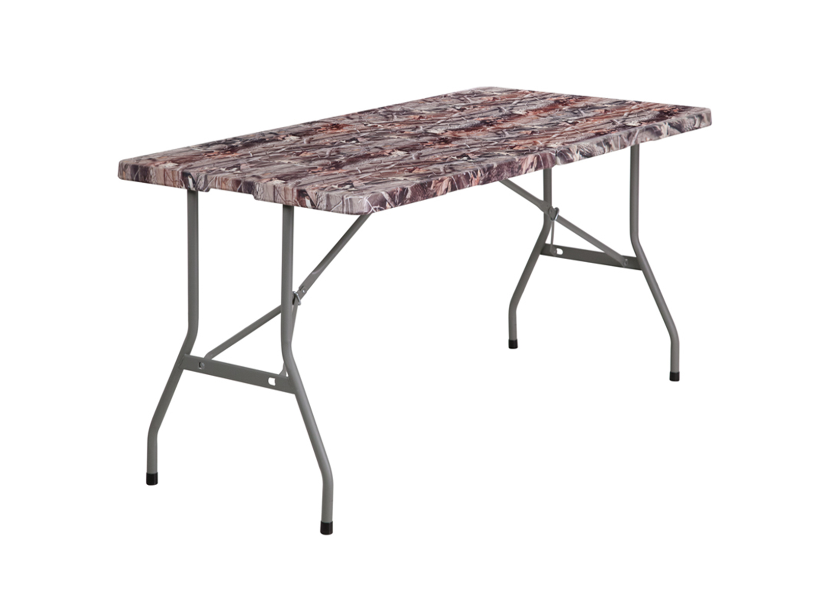 5' Bi-Fold Camouflage Plastic Folding Table