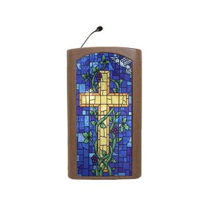 Accent Classic Integrator, Bronze with Stained Glass Front Pulpit - Dan James Original