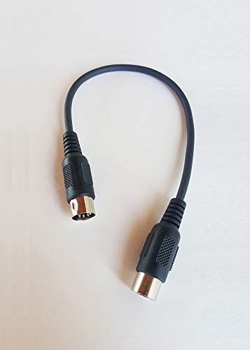 1 Foot Durable MIDI Cable for Keyboards & Other Professional Digital Instruments