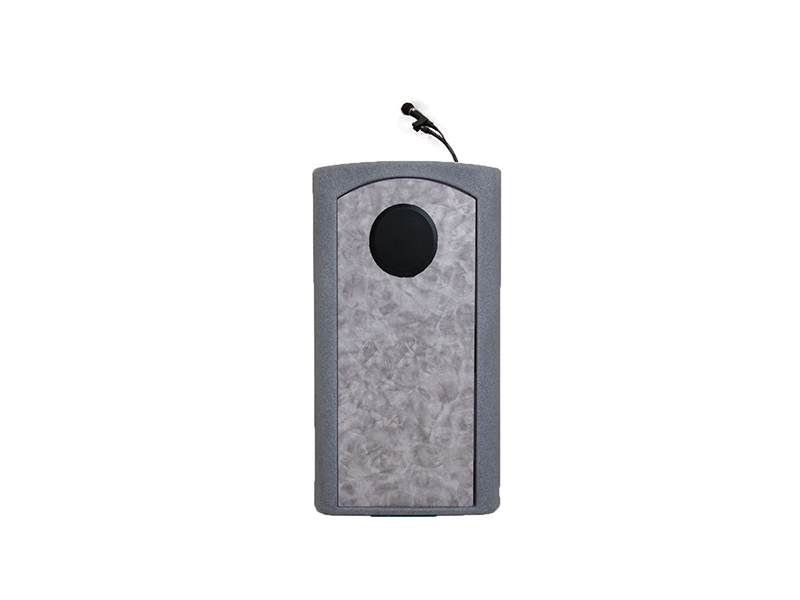 Accent Classic Presenter Podium Lectern Internal Speaker, Gray Granite - Dan James Original