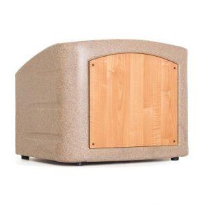 Accent Table Top Podium Chameleon Lectern, Beige Granite - Dan James Original