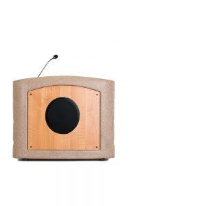 Accent Table Top Podium Lectern, Beige Granite - Dan James Original