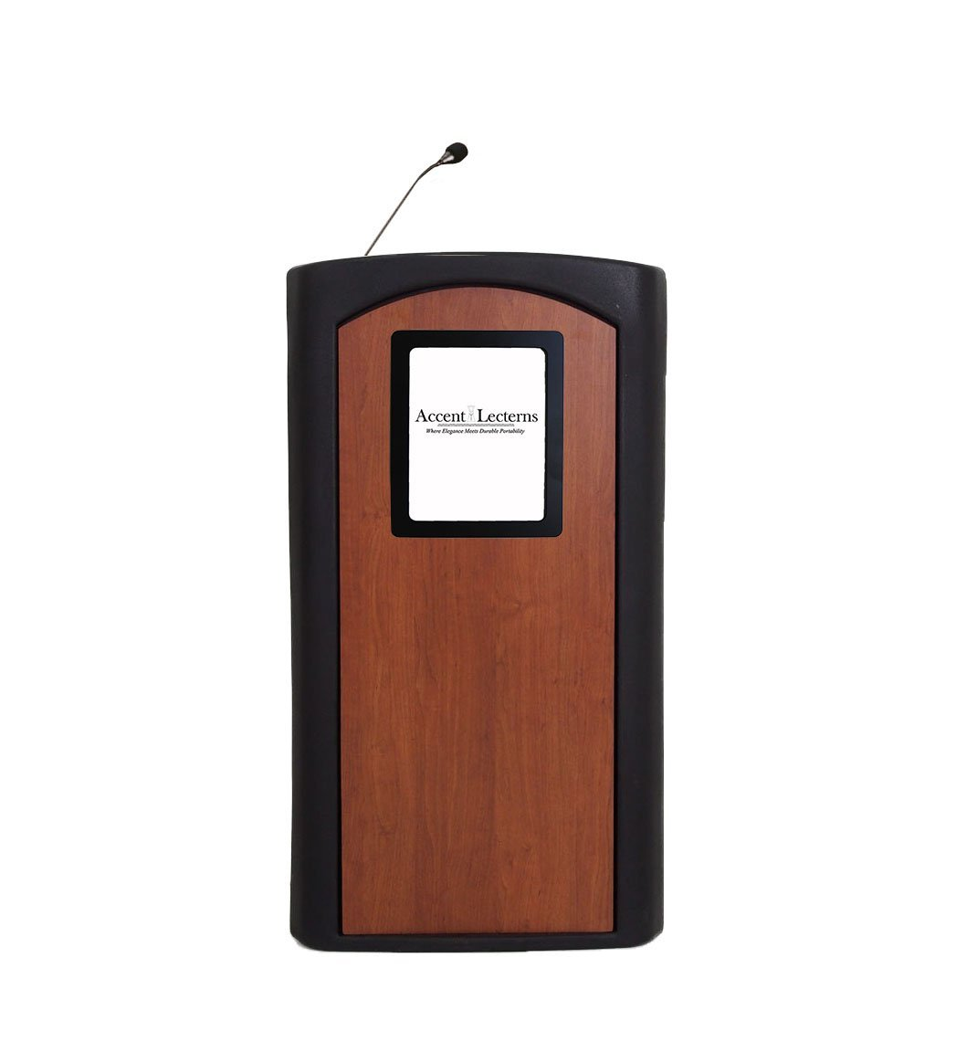 Accent Classic Integrator Vertical Logo Lectern Podium, Black - Dan James Original