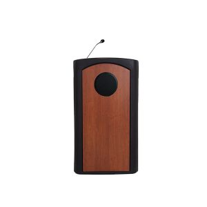 Accent Classic Presenter Podium Portable Lectern Internal Speaker, Black