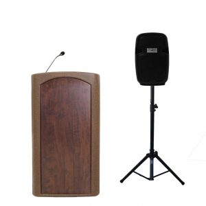 "Accent Classic Freedom 8"" Speaker Podium Lectern, Bronze - Dan James Original"
