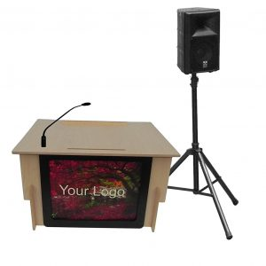 Accent Classic Table Top Logo Lectern Presenter - Dan James Original