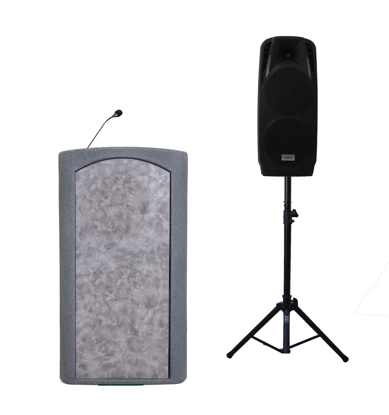 "Accent Classic Freedom Dual 10"" Podium Lectern, Gray Granite - Dan James Original"