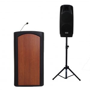 "Accent Classic Freedom Dual 10"" Podium Lectern, Black - Dan James Original"
