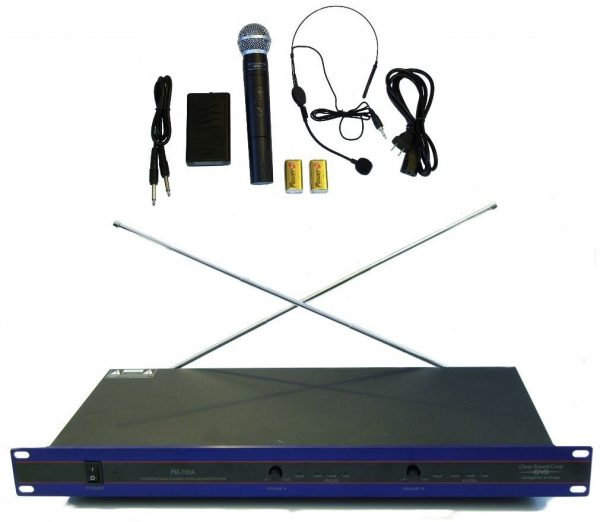 VHF Wireless Microphone System with one Handheld and Neck Microphone