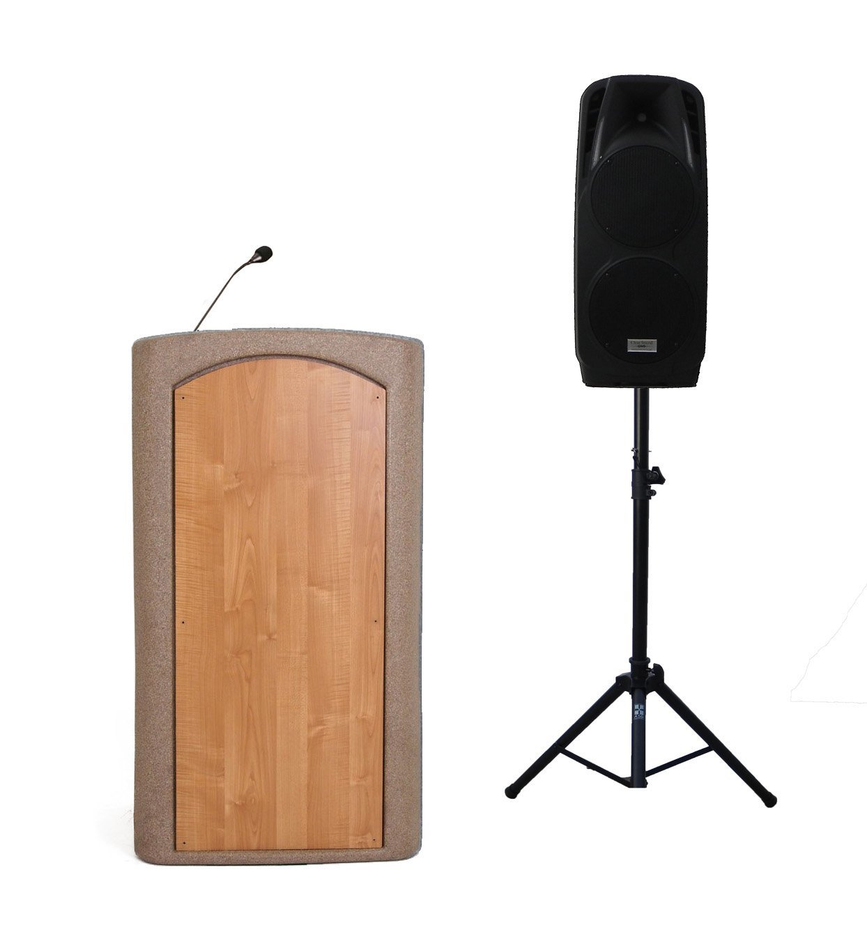 "Accent Classic Freedom Dual 10"" Podium Lectern, Beige Granite - Dan James Original"