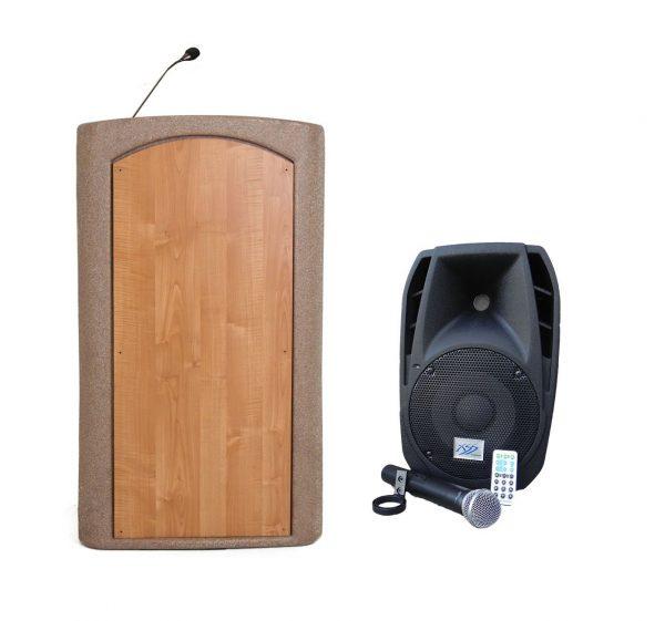 Accent Classic Freedom UHF Podium Lectern, Beige Granite - Dan James Original
