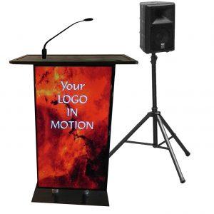 Accent Full Monitor Presenter Podium with Monitor