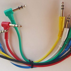 Clear Sound Noise-Free Shielded Copper-Wrapped Right Angle Stereo Patch Cable