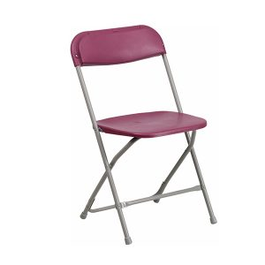 HERCULES Series Premium Burgundy Plastic Chair
