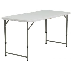 Height Adjustable Plastic Folding Table