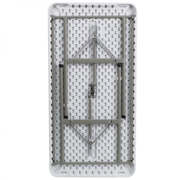Granite White Plastic Folding Table