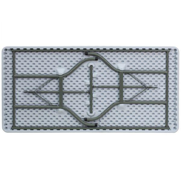 5' Granite White Plastic Folding Table