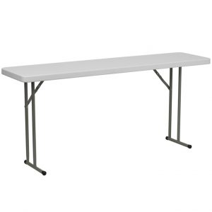 6' Granite White Plastic Folding Training Table