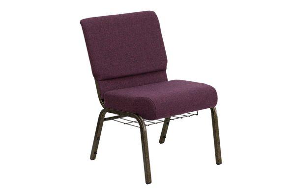 HERCULES Series 21'' Extra Wide Plum Fabric Chair