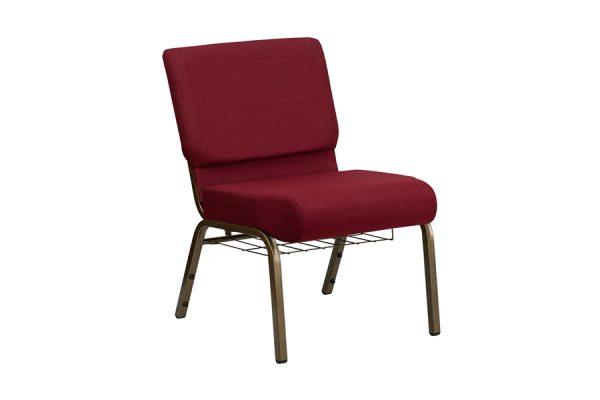 HERCULES Series 21'' Extra Wide Burgundy Fabric Chair