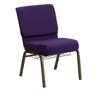 HERCULES Series 21'' Extra Wide Royal Purple Fabric Chair
