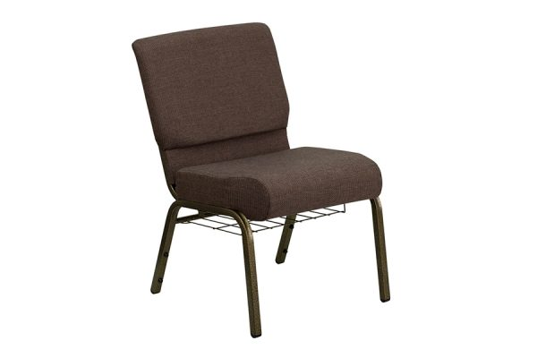HERCULES Series 21'' Extra Wide Brown Fabric Chair