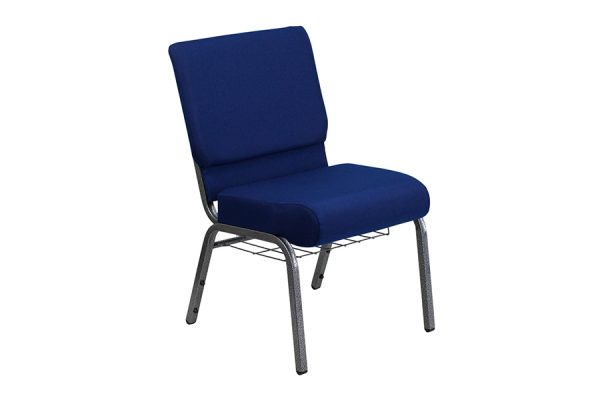 HERCULES Series 21'' Extra Wide Navy Blue Fabric Chair