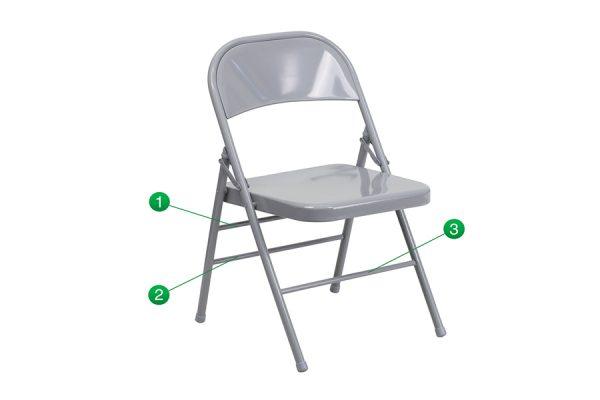 HERCULES Series Triple Braced Chair