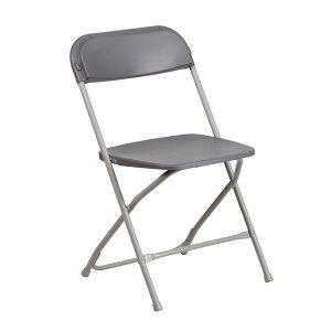 HERCULES Series Premium Grey Plastic Chair