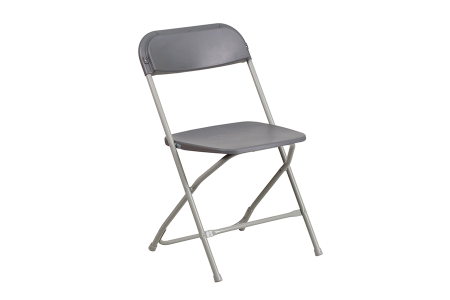 HERCULES Series Premium Grey Plastic Chair