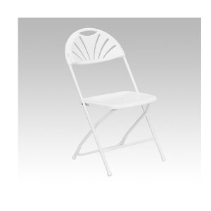 HERCULES Series White Plastic Fan Back Chair