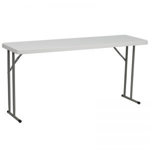 5' Plastic Folding Training Table