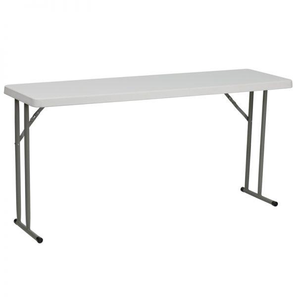 5' Plastic Folding Training Table