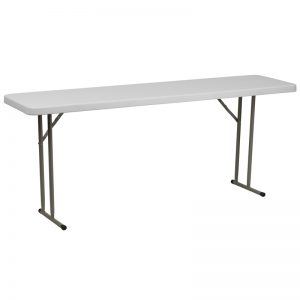 6' Plastic Folding Training Table