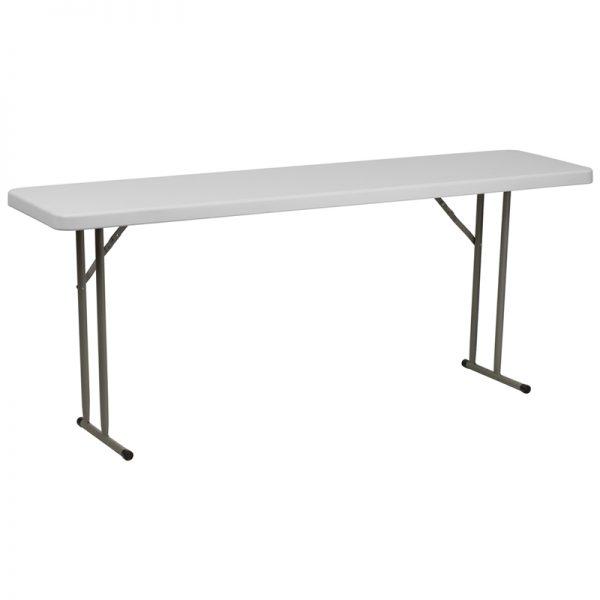 6' Plastic Folding Training Table