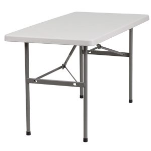 4' Plastic Folding Table
