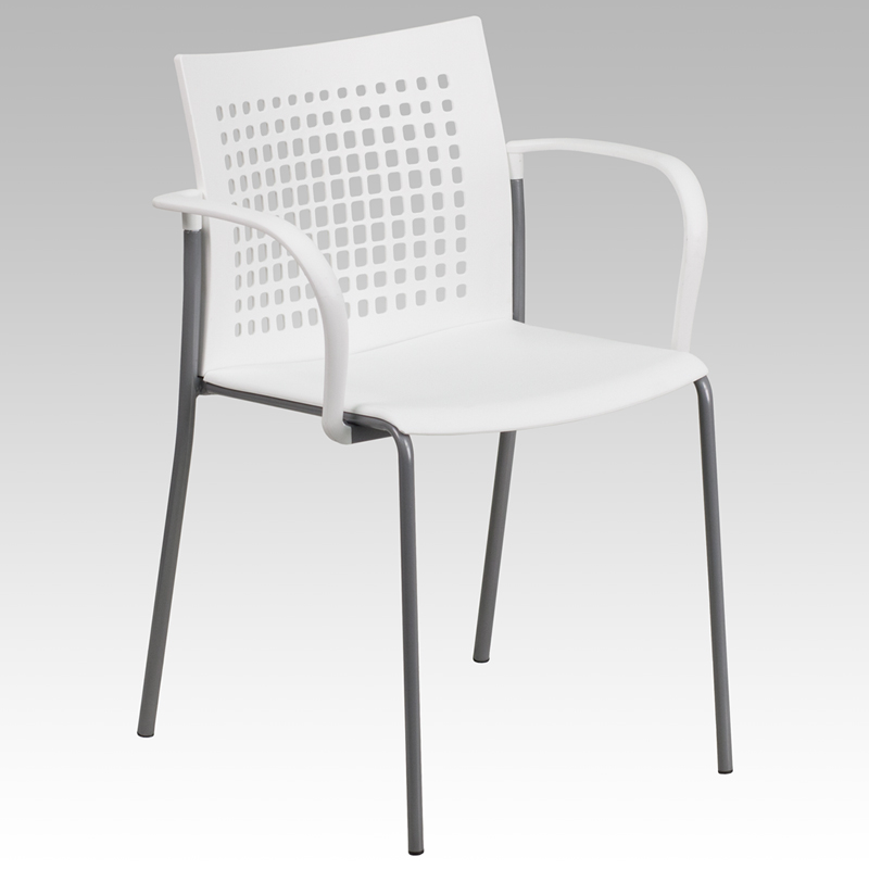 HERCULES Series White Stack Chair
