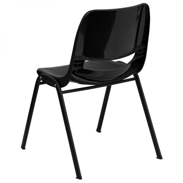 HERCULES Series Black Ergonomic Shell Stack Chair