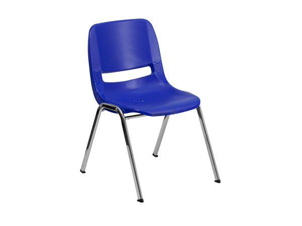HERCULES Series Navy Ergonomic Shell Stack Chair