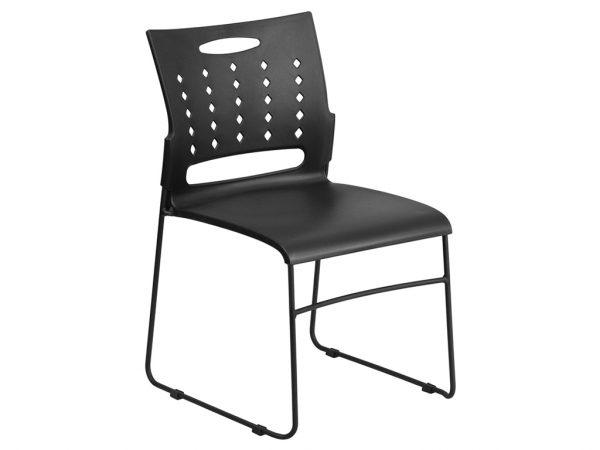 HERCULES Series Black Sled Base Stack Chair