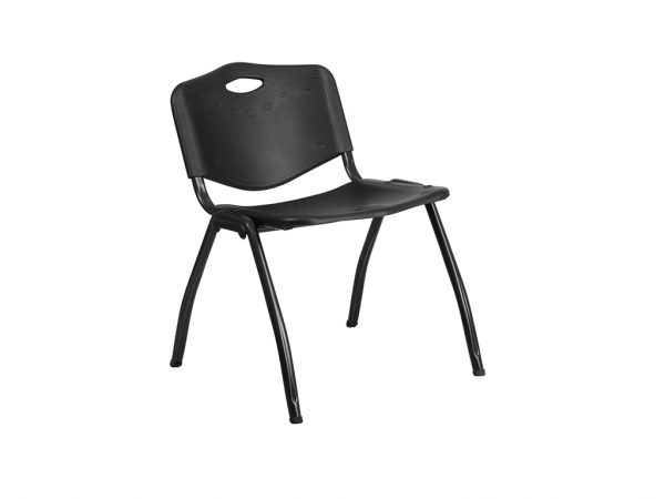 HERCULES Series Black Plastic Stack Chair