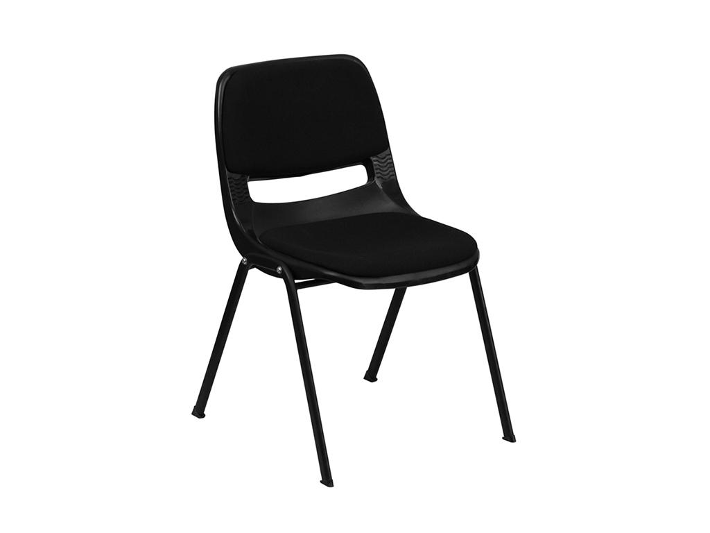 HERCULES Series Black Shell Stack Chair