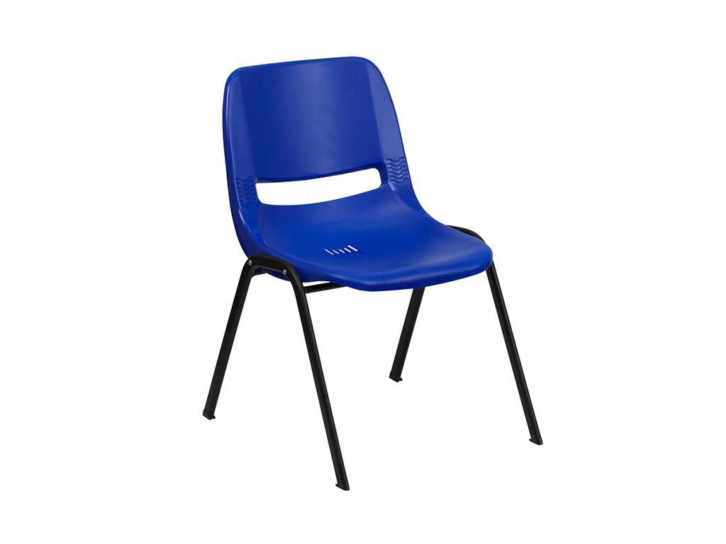 HERCULES Series Blue Ergonomic Shell Stack Chair