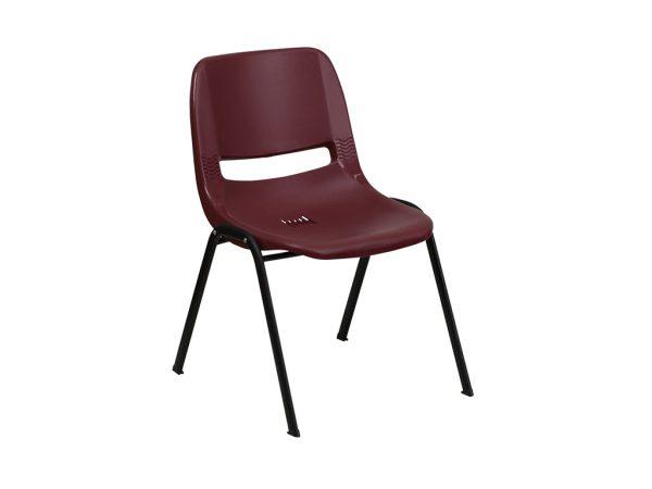 HERCULES Series Burgundy Ergonomic Shell Stack Chair
